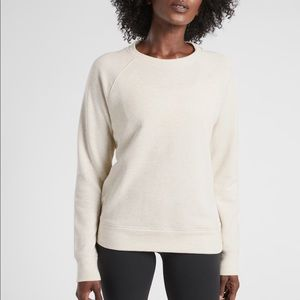 Athleta Dynamic Crew Sweatshirt - Oatmeal Heather